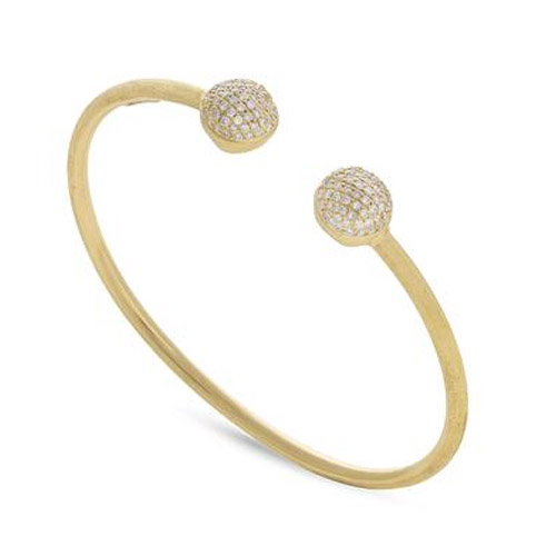 Africa Gold with Diamond Pave Kissing Bangle