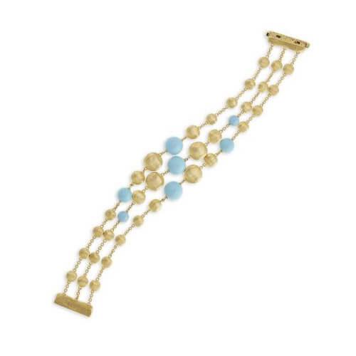 Africa Turquoise Three Strand Bracelet