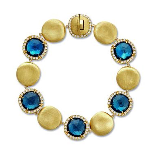 Jaipur London Blue Topaz and Diamond Bracelet