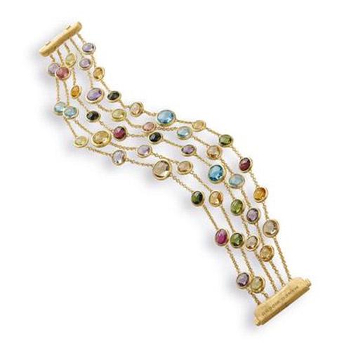 Jaipur Five Strand Mixed Stone Bracelet