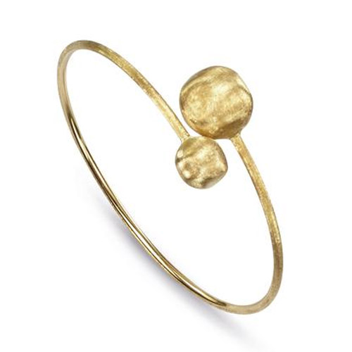 Africa Gold Large Bead Hugging Bangle