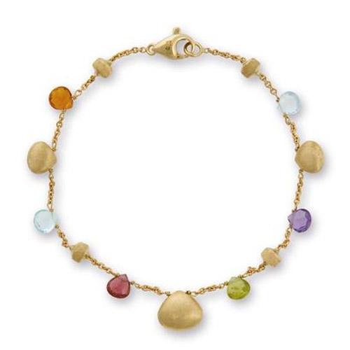 Paradise Mixed Stone and Gold Teardrop Bracelet