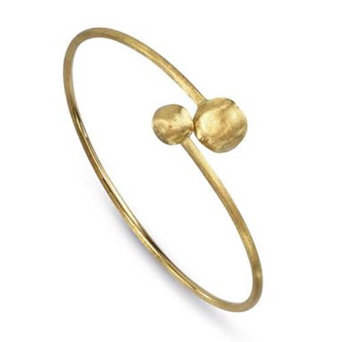 Africa Gold Small Bead Hugging Bangle