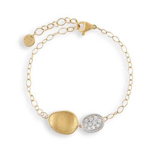 Lunaria Gold & Diamond Pave Chain Bracelet