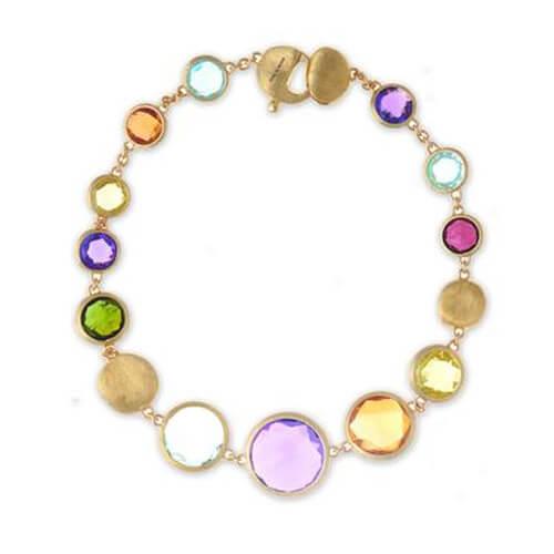 Jaipur Graduated Single Strand Mixed Gemstone Bracelet