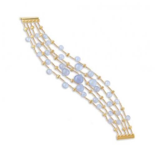 Paradise Chalcedony Five Strand Graduated Bracelet