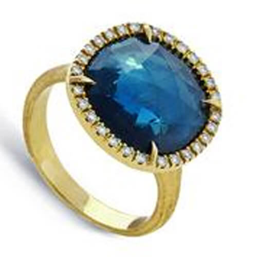 jaipur london blue topaz and diamond medium ring
