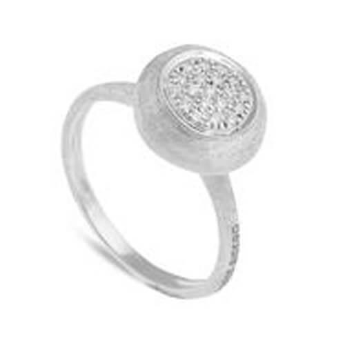 Jaipur Diamond White Medium Stackable Ring