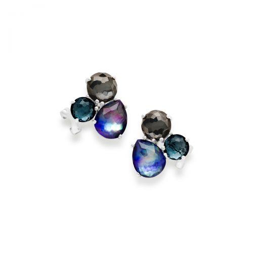 Cluster Stud Earrings in Sterling Silver