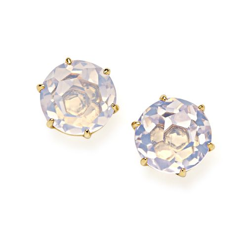 Medium Round Stud Earrings in 18K Gold