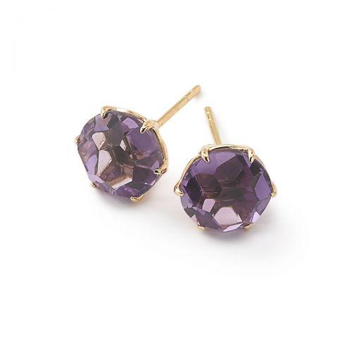 Medium Stud Earrings in 18K Gold