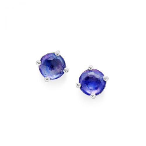 mini stud earrings in sterling silver
