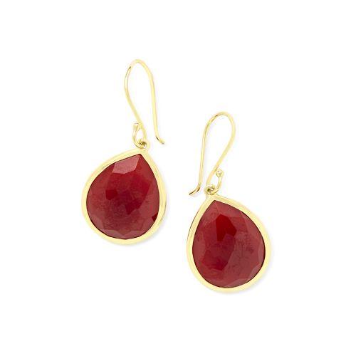 teardrop earrings in 18k gold