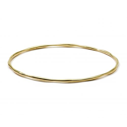 squiggle bangle in 18k gold