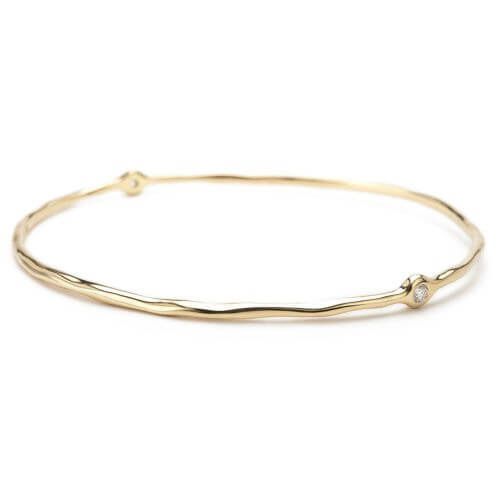 Superstar Bangle in 18K Gold with Diamonds