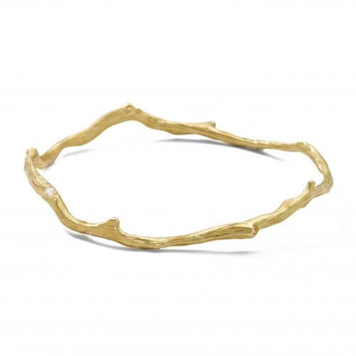 Reef Bangle in 18K Gold with Diamonds