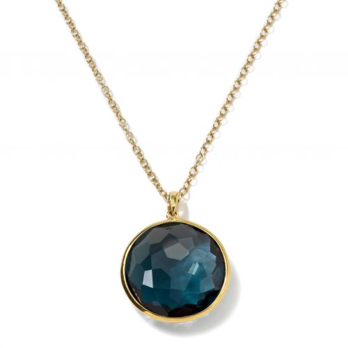 Large Pendant Necklace in 18K Gold