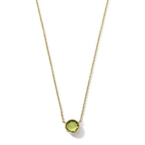 mini pendant necklace in 18k gold