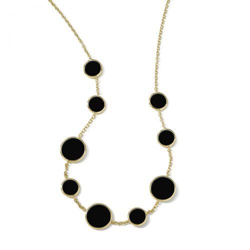 Station Necklace in 18K Gold