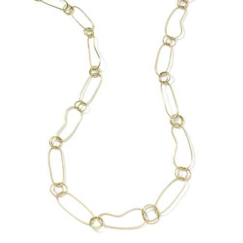 Kidney Chain Necklace in 18K Gold