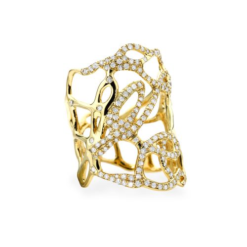 Drizzle Ring in 18K Gold with Diamonds