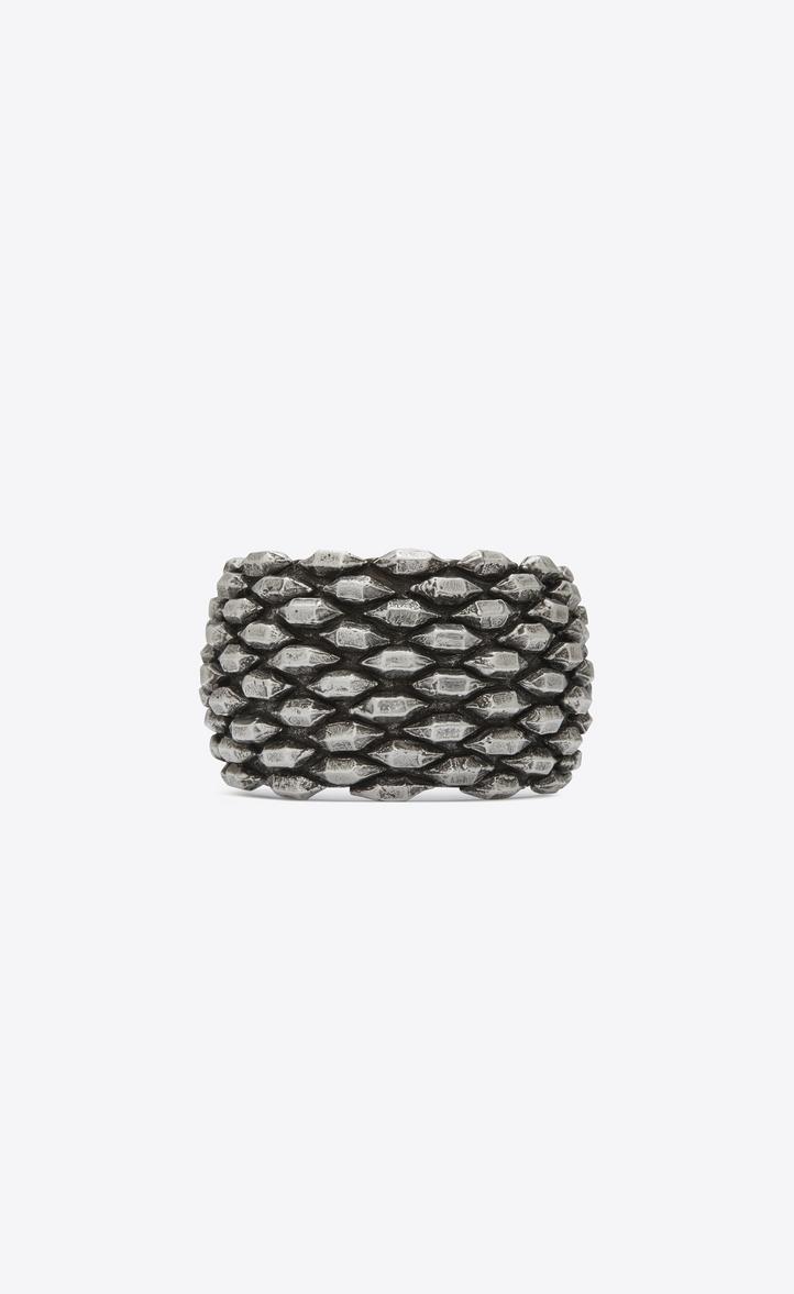 MARRAKECH cuff bracelet in silver-toned brass