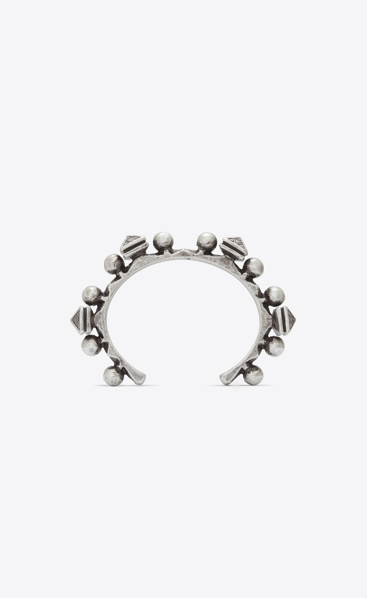 MARRAKECH grommet bracelet in silver-toned brass