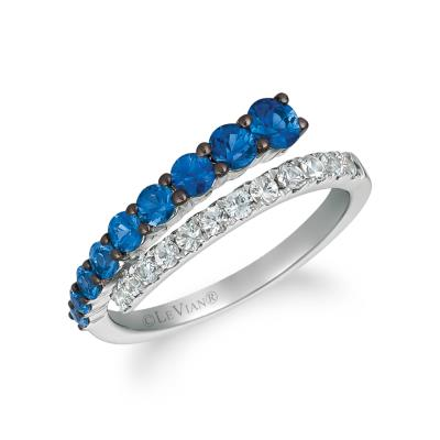 14K Vanilla Gold® Denim Ombré® 7/8 cts., White Sapphire 1/3 cts. Ring