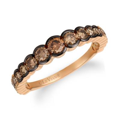 14K Strawberry Gold® Ring with Ombre Chocolate Diamonds® 7/8 cts.