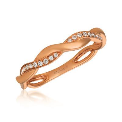 14K Strawberry Gold® Ring with Vanilla Diamonds® 1/10 cts.