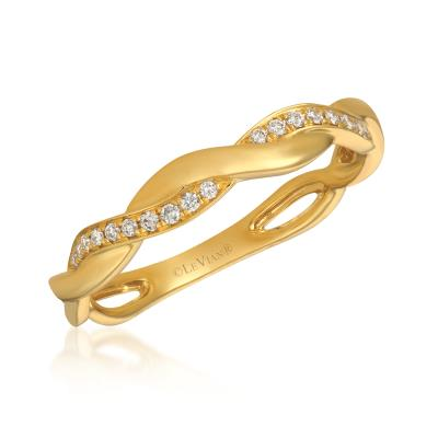 14K Honey Gold™ Ring with Vanilla Diamonds® 1/10 cts.