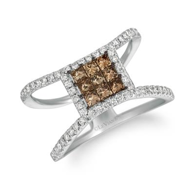 14K Vanilla Gold® Ring with Chocolate Diamonds® 1/2 cts., Vanilla Diamonds® 3/8 cts.