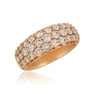 14k strawberry gold® ring with nude diamonds™ 1  7/8 cts.