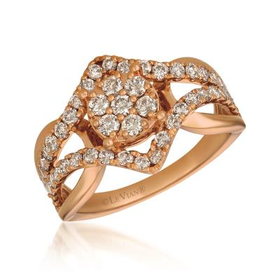 14K Strawberry Gold® Ring with Nude Diamonds™ 1 cts.