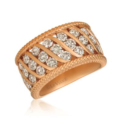 14K Strawberry Gold® Ring with Nude Diamonds™ 2  1/3 cts.