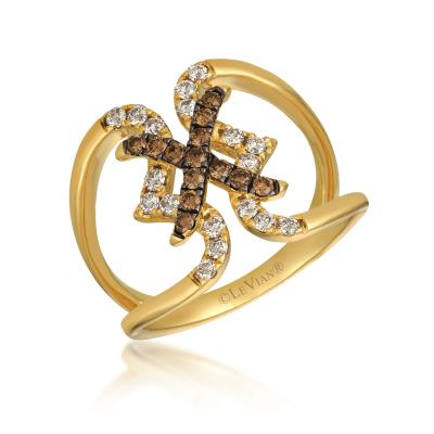 14K Honey Gold™ Ring with Nude Diamonds™ 1/3 cts., Chocolate Diamonds® 1/4 cts.