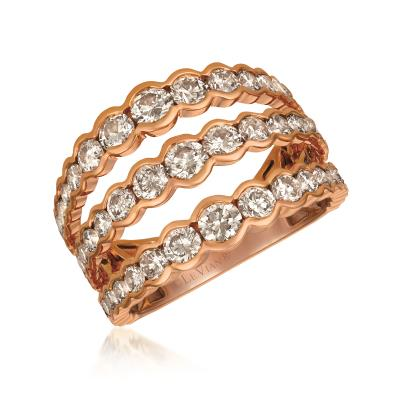 14K Strawberry Gold® Ring with Ombre Chocolate Diamonds® 2  5/8 cts.