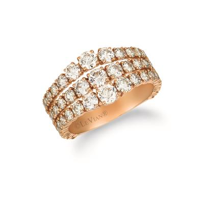 14K Strawberry Gold® Ring with Nude Diamonds™ 2  5/8 cts.