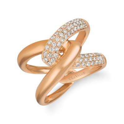 14K Strawberry Gold® Ring with Nude Diamonds™ 3/4 cts.