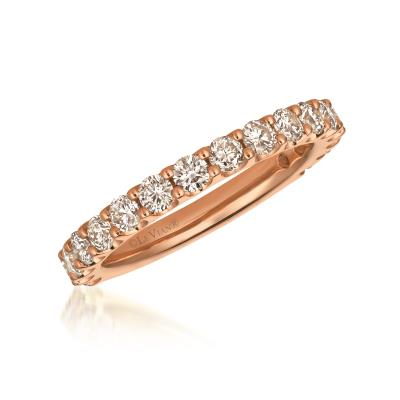 14K Strawberry Gold® Ring with Nude Diamonds™ 1  1/8 cts.