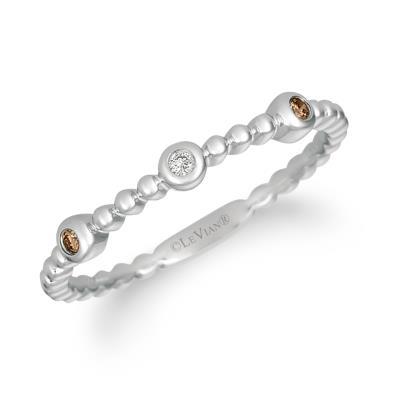 14k vanilla gold® ring with chocolate diamonds®  cts.