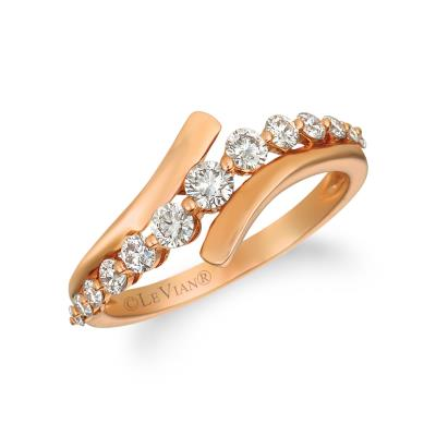 14k strawberry gold® ring with nude diamonds™ 5/8 cts.