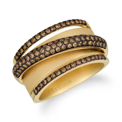 14K Honey Gold™ Ring with Chocolate Diamonds® 3/4 cts.