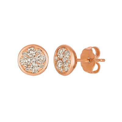 14k strawberry gold® earrings with nude diamonds™ 1/2 cts.