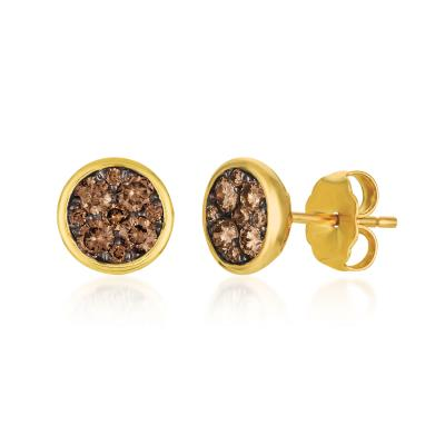 14K Honey Gold™ Earrings with Chocolate Diamonds® 1/2 cts.