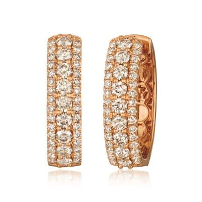 18k strawberry gold® earrings with nude diamonds™ 3 cts.