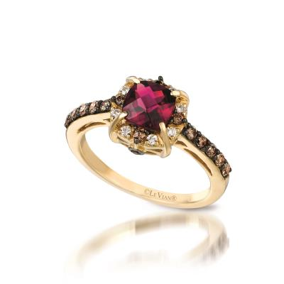 14K Honey Gold™ Passion Ruby™ 1  1/4 cts. Earrings with Vanilla Diamonds® 1/10 cts.