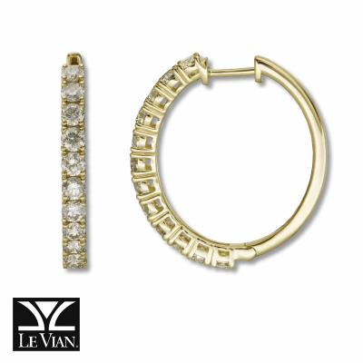 14K Honey Gold™ Earrings with Nude Diamonds™ 2 cts.
