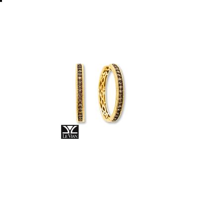14K Honey Gold™ Earrings with Chocolate Diamonds® 5/8 cts.