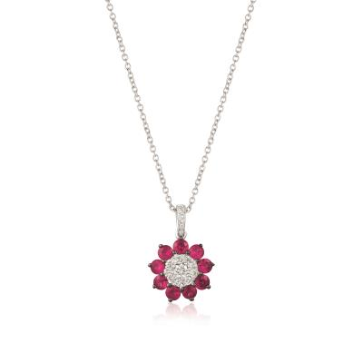 14k vanilla gold® passion ruby™ 7/8 cts. pendant with vanilla diamonds® 1/4 cts.